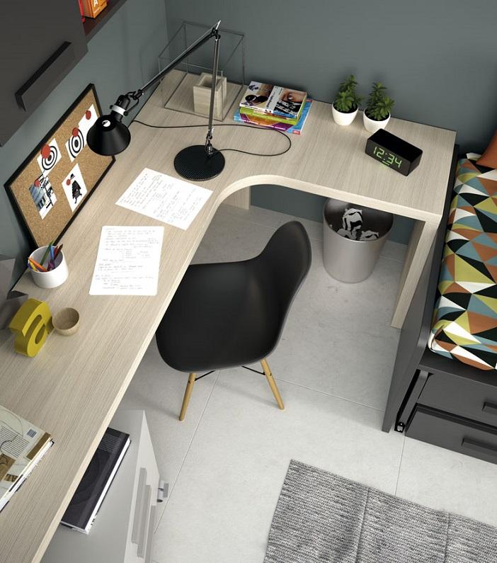 Gu a para elegir el dormitorio juvenil escritorios - Como hacer una mesa de ordenador ...