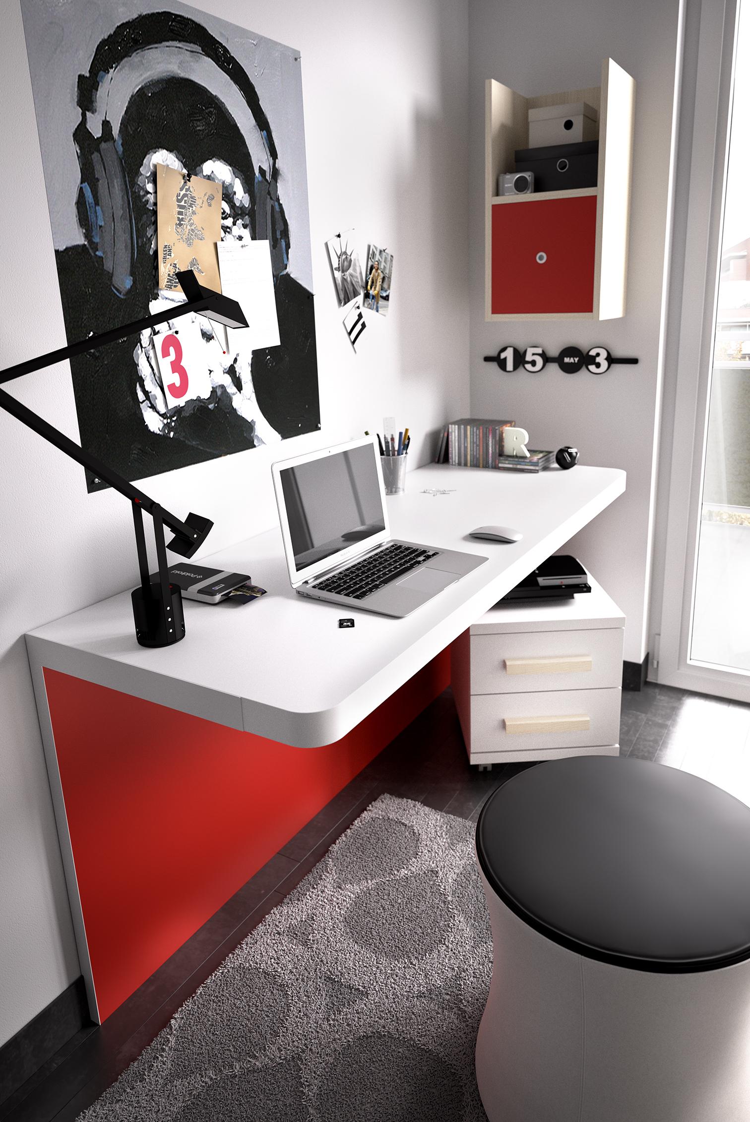 Gu a para elegir el dormitorio juvenil escritorios - Mesas para estudiar ...