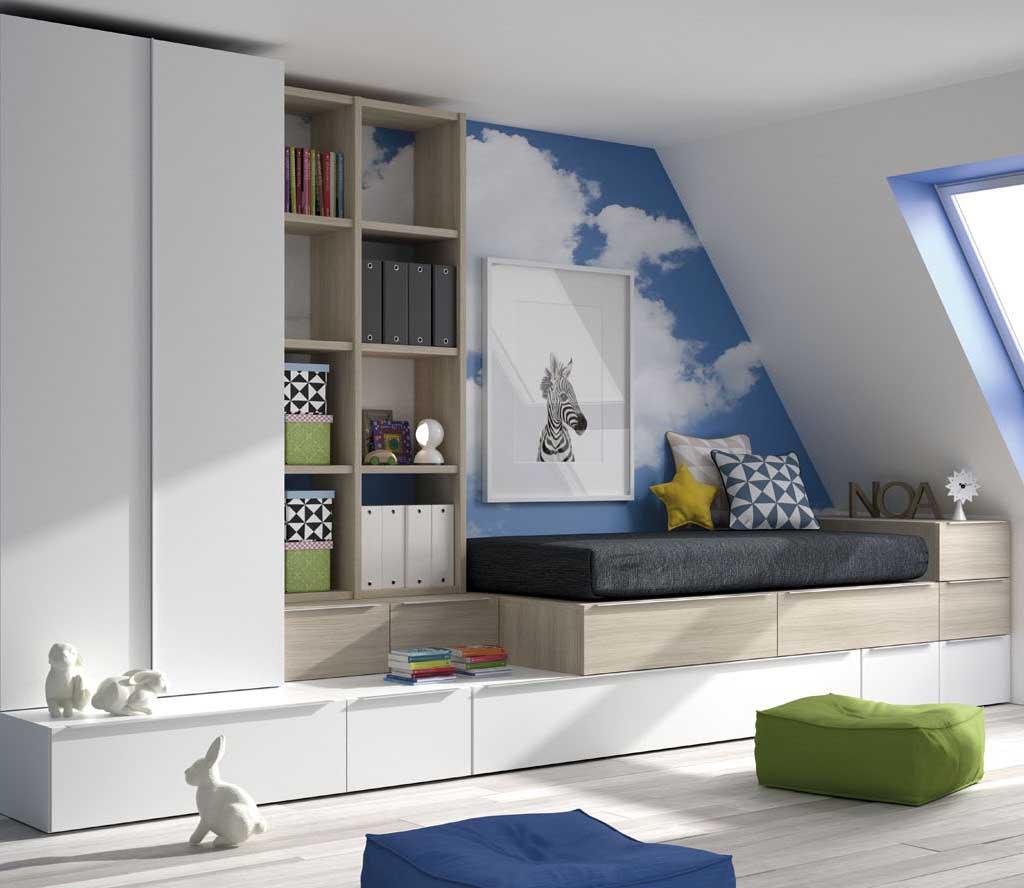 Gu a para elegir el dormitorio juvenil la cama - Camas pegadas ala pared ...