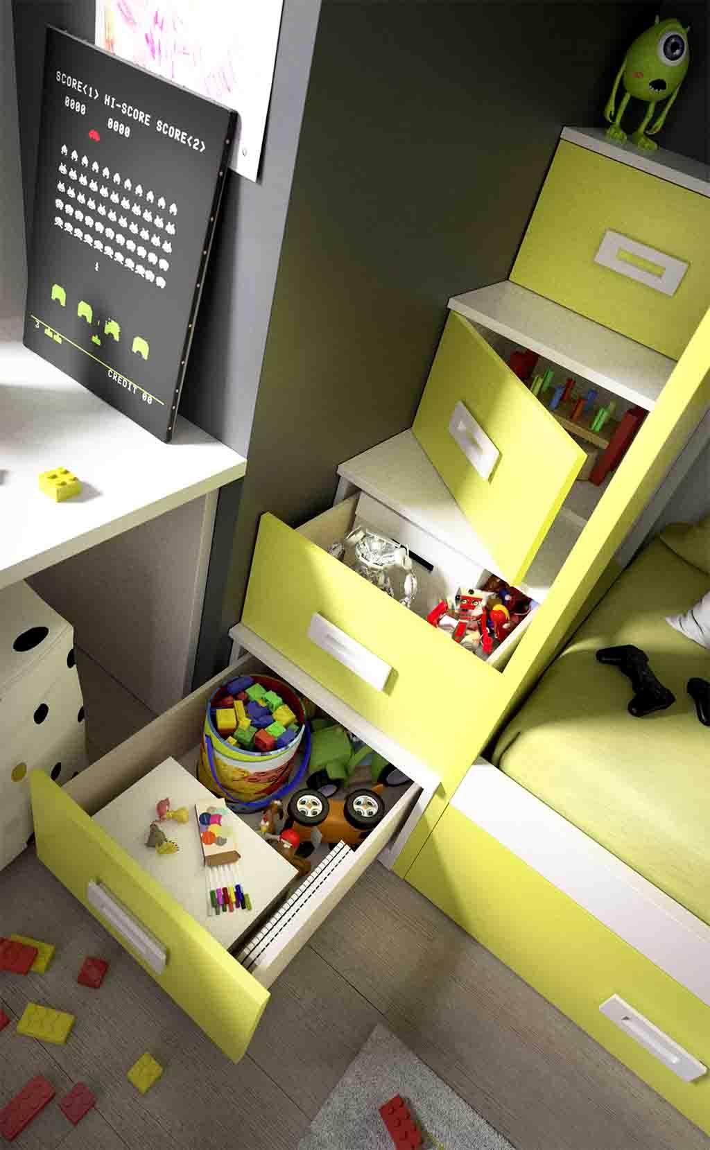 Escaleras Para Cama Nido Free Litera Con Escalera Bravo With  ~ Escaleras Infantiles Para Camas Altas