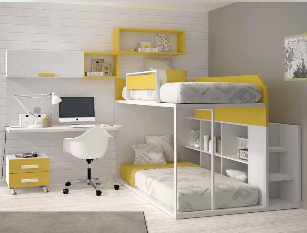 Gu a para elegir el dormitorio juvenil la cama - Literas en forma de l ...