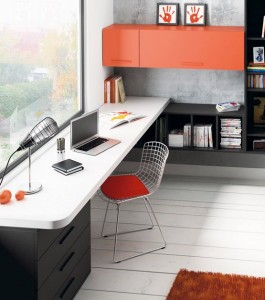 Mesa de escritorio canto redondeado
