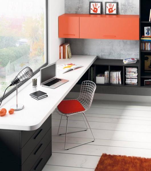 Gu a para elegir el dormitorio juvenil escritorios - Dormitorio juvenil con escritorio ...
