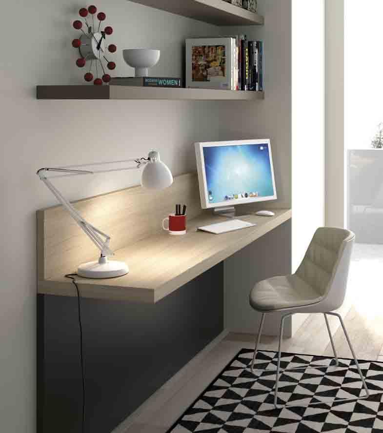 Gu a para elegir el dormitorio juvenil estanter as - Escritorio abatible pared ...