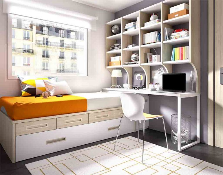 Gu a para elegir el dormitorio juvenil estanter as - Estanterias para dormitorios ...