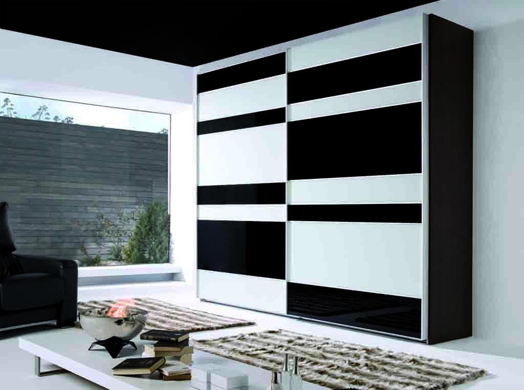 Armario puertas correderas combinadas cristal y aluminio