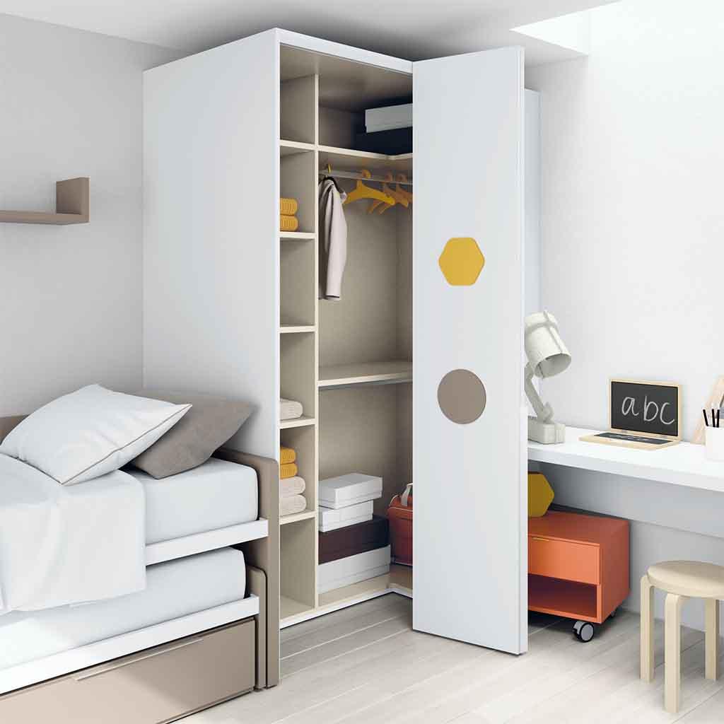 Gu a para elegir el dormitorio juvenil armarios - Armario puertas plegables ...