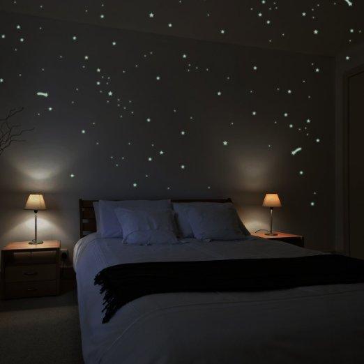 Vinilo fluorescente estrellas.