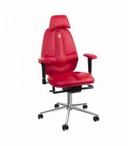 Silla ergonómica classic ecopiel rojo