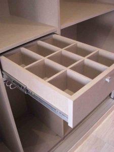 Clasificador multiusos cuadrícula de madera