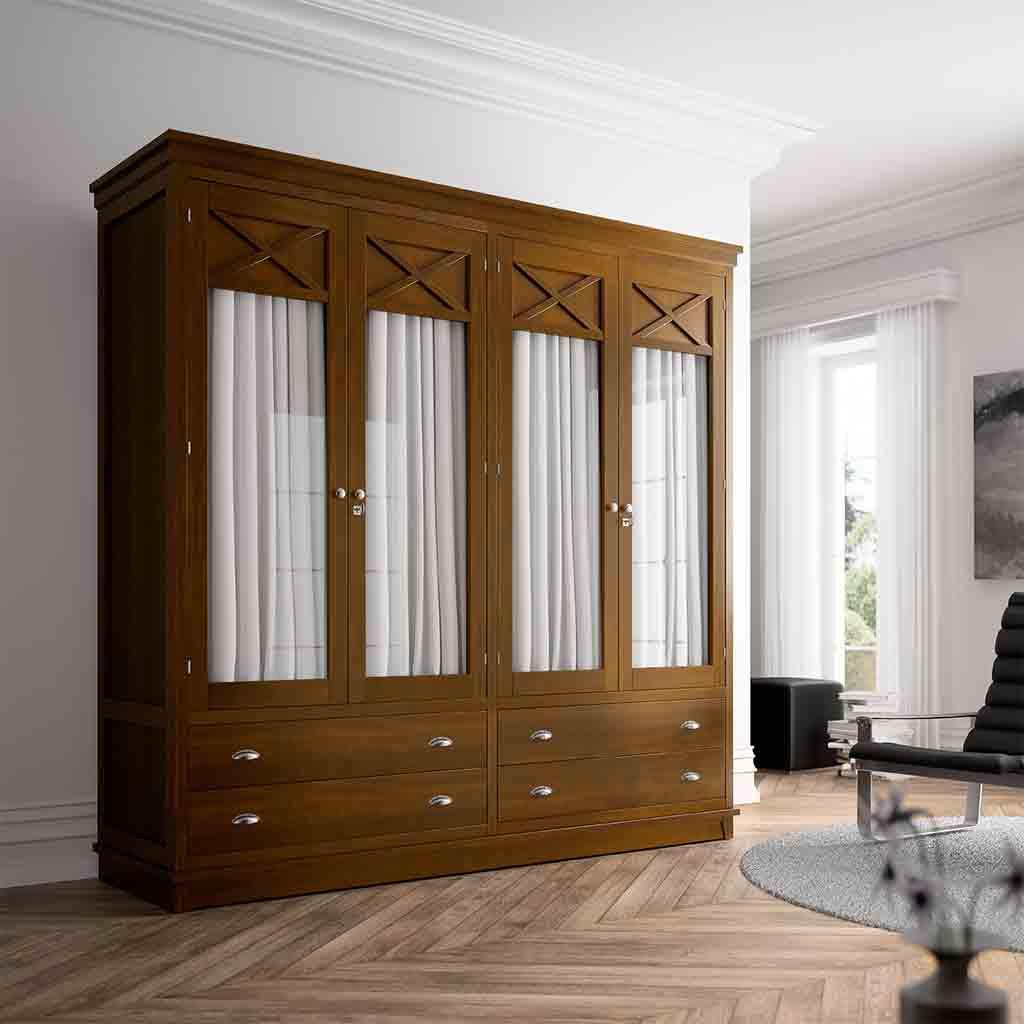 armario con cortinas sin empotrar