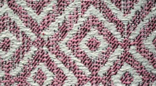 Estampado geométrico, rosa y gris