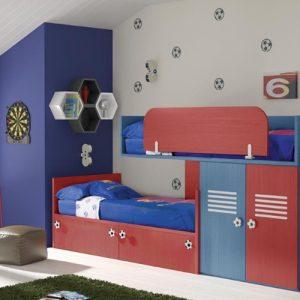 Habitación infantil tematica fútbol.