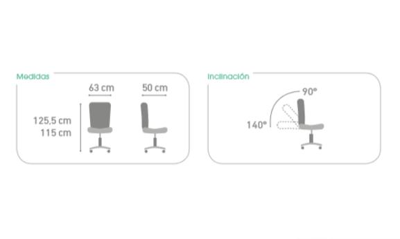 Silla de oficina ergon mica modelo 818 de plt home for Sillas para oficina office max