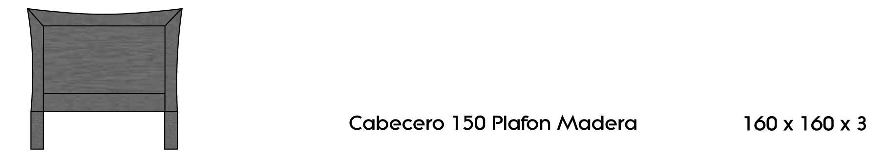 Cabecero 150 plafón