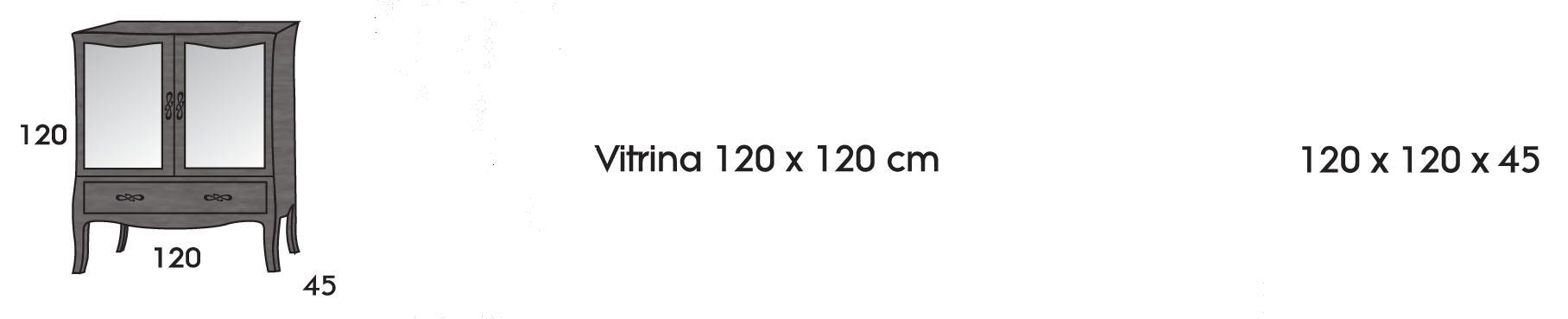 Vitrina 120 cm