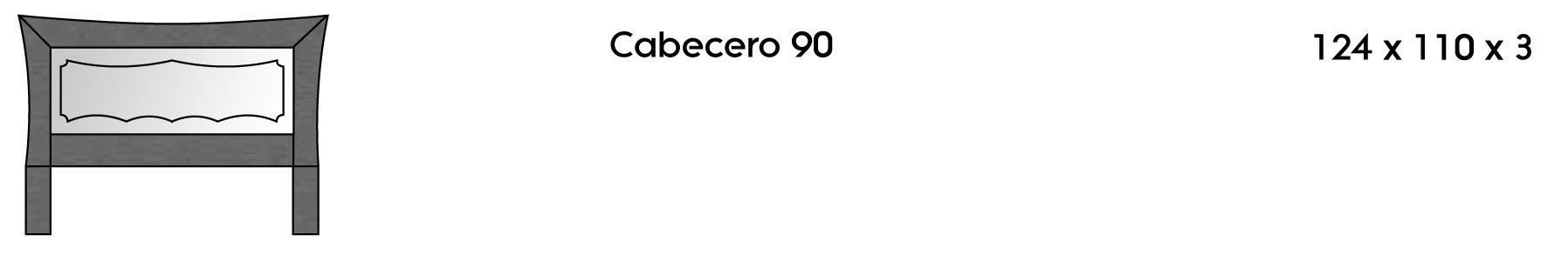Cabecero 90 cm
