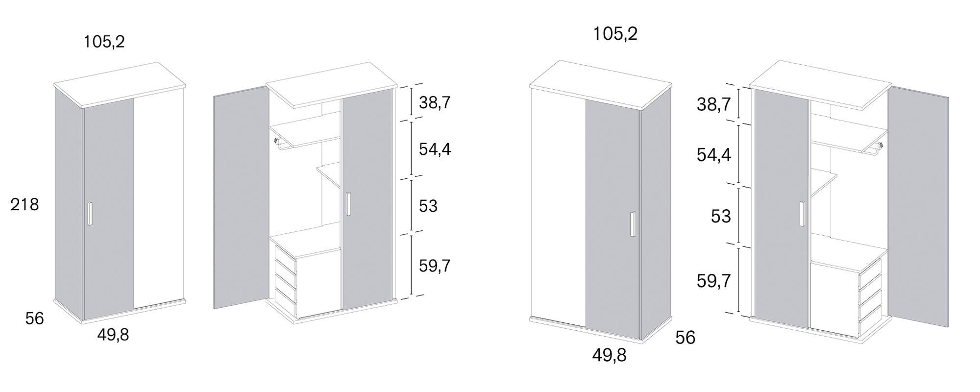 armario puerta batiente Rimobel