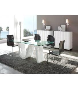 Mesa de comedor de cristal modelo DOVER