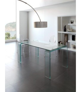 Mesa de comedor de cristal modelo DESIGN