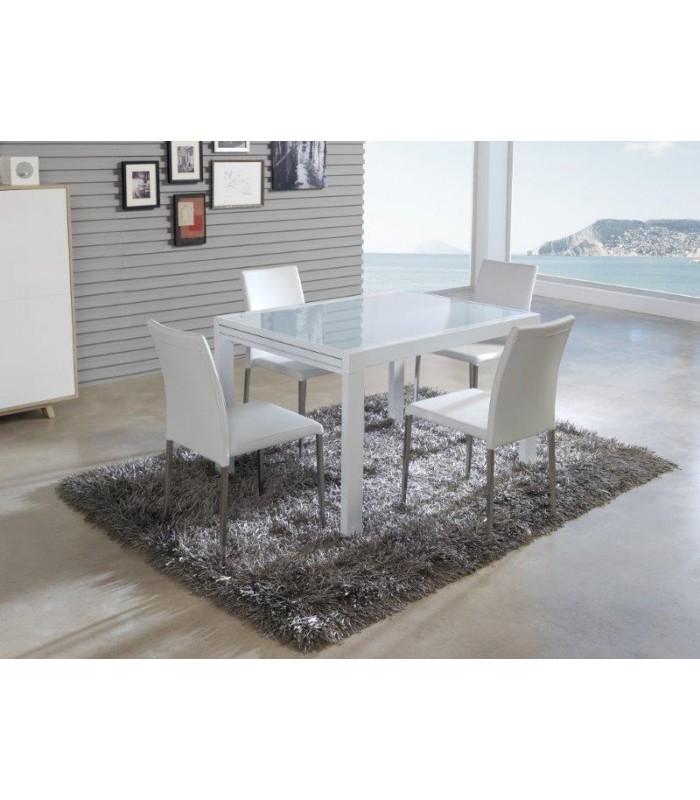 Mesa de comedor modelo dunna de dugar home for Mesa comedor 90x90 extensible