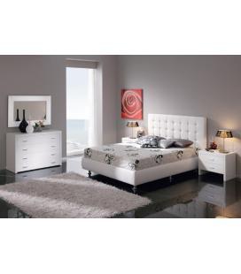 Cama tapizada con diván abatible modelo EVA