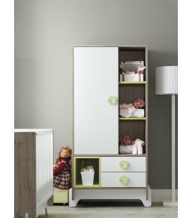 Armario infantil 1 puerta 2 cajones modelo CONEXION de ROS