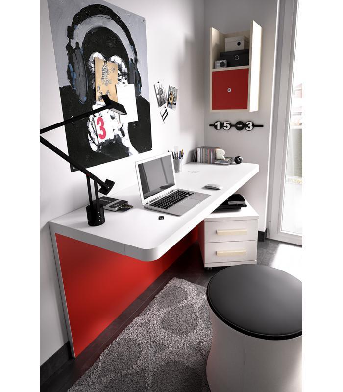 escritorio juvenil modelo down de rimobel