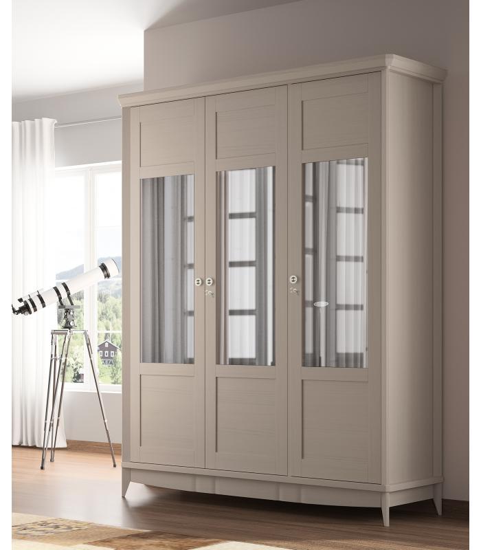 Armario puertas abatibles garbo 05 de elizana - Puertas de cristal para armarios ...