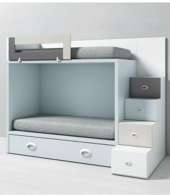 Litera infantil dado con cama nido y escalera lateral - Cama nido infantil ikea ...