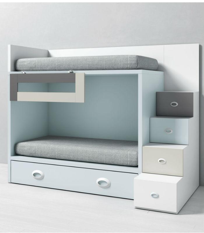 infantil DADO con cama nido y escalera lateral TEGAR MOBEL