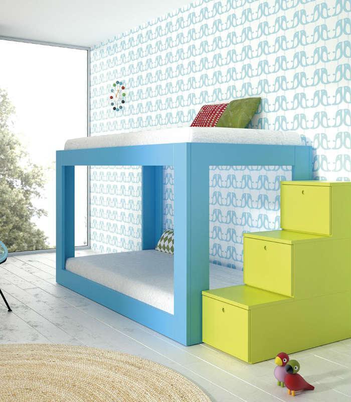 Literas infantiles con tobogan litera tren oeken with for Dormitorios infantiles con tobogan