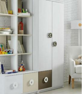 Armario infantil BOX 2 puertas y contenedor de ROS