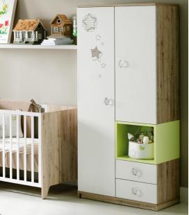 Armario infantil BOX 2 puertas, cubo y 2 cajones de ROS