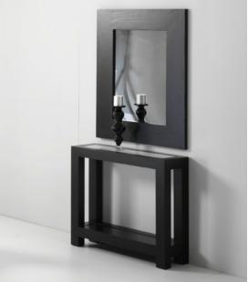 Consola con estante de cristal