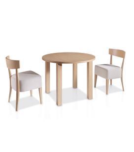 Mesa comedor multifunción con tapa redonda