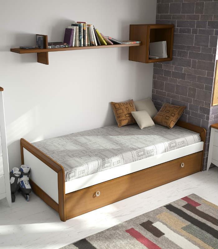 Cama nido individual modelo garbo de elizana for Dimensiones cama nido