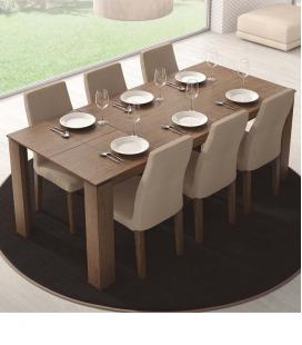 Mesa de comedor extensible rectangular