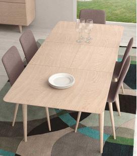 Mesa de comedor extensible retro