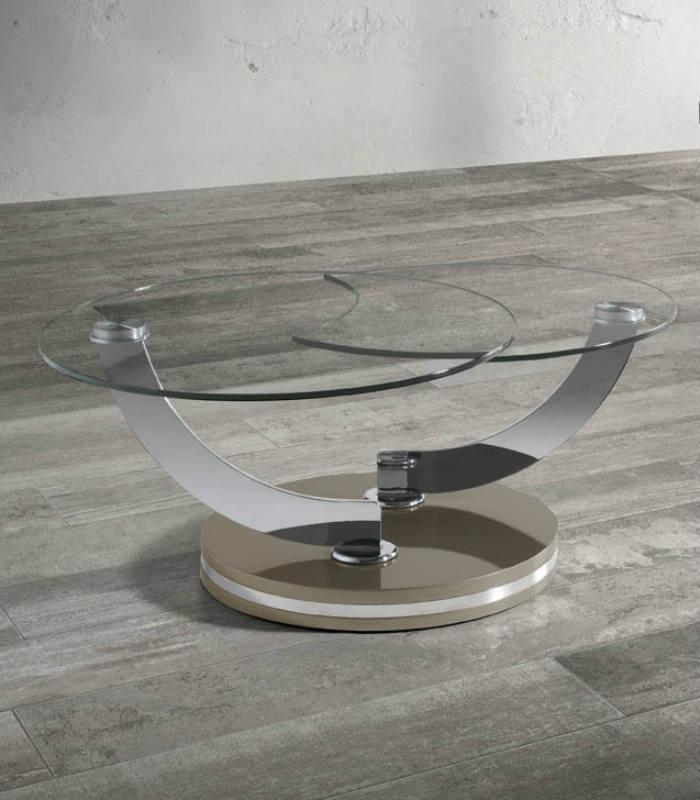 Mesa de centro de cristal de ngel cerd for Mesa de salon abatible