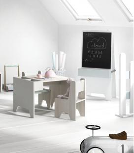 Mesa infantil con cubiletes modelo NOA de TEGAR MOBEL