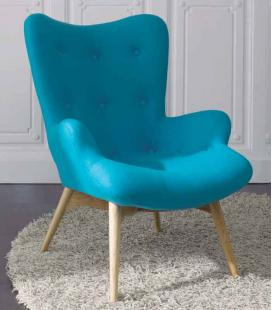 Sillón Orejero Azul de DUGAR HOME