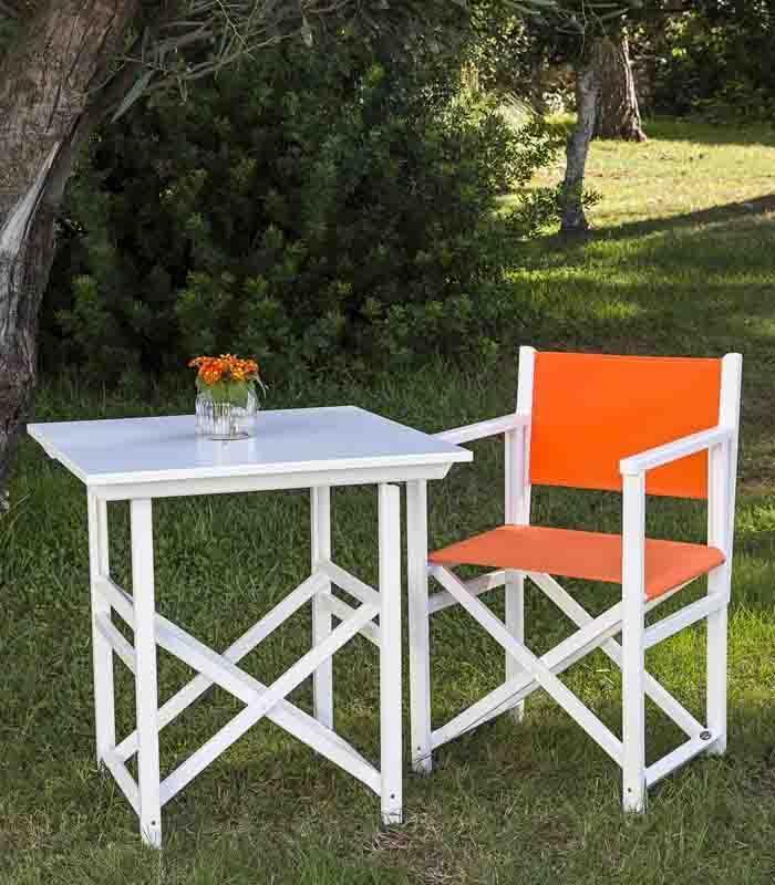 Mesa plegable de exterior modelo t70 de sillas menorca for Sillas menorquinas