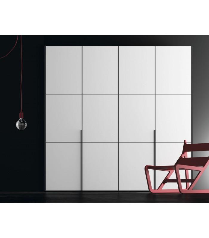 Armario puerta abatible enmarcada 3 plafones de jjp - Puertas de armario abatibles ...