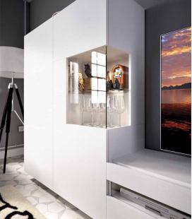 Ambiente de salón modelo DUO 55 estilo moderno