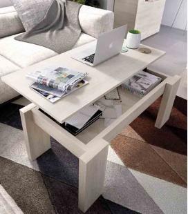 Mesa de centro elevable pata madera modelo Duo de Rimobel