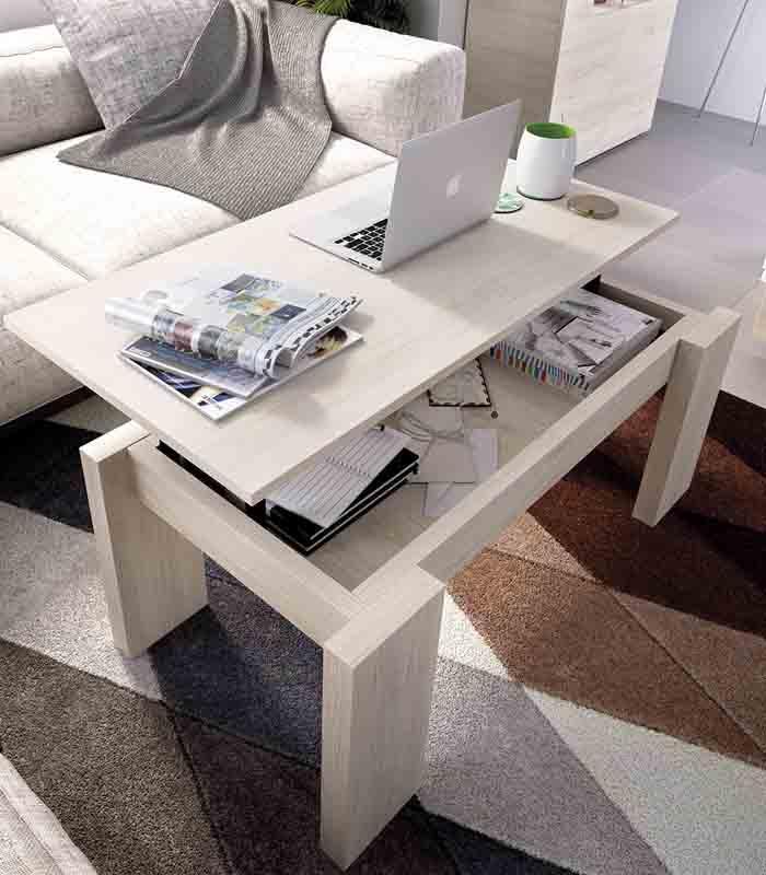 Mesa de centro elevable pata madera modelo duo de rimobel for Patas para mesa de centro