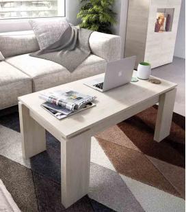 Mesa de centro elevable pata madera modelo DUO