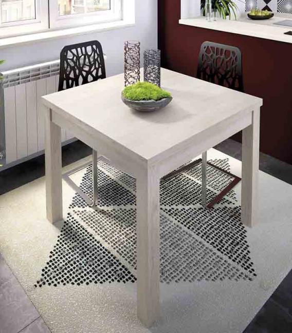 Mesa de comedor extensible cuadrada modelo duo de rimobel - Mesas abatibles comedor ...