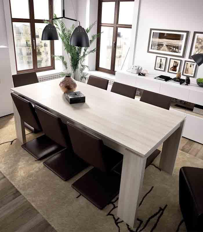 Mesa de comedor extensible duo de rimobel for Mesas de comedor extensibles economicas
